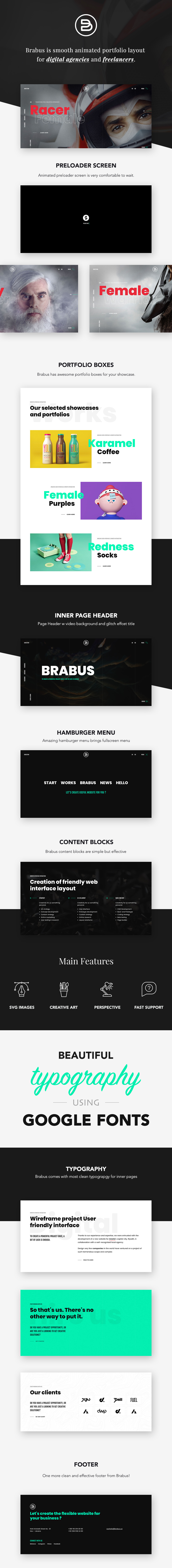 Brabus | Contemporary Portfolio Theme for Agencies - 1