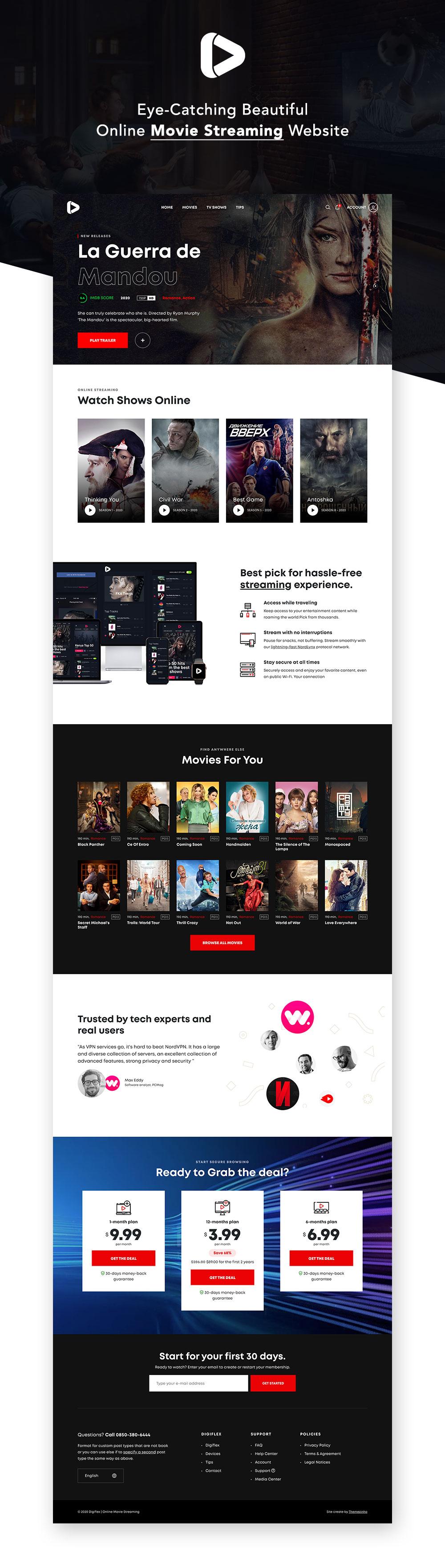 Digiflex | Online Movie Streaming HTML Template - 1