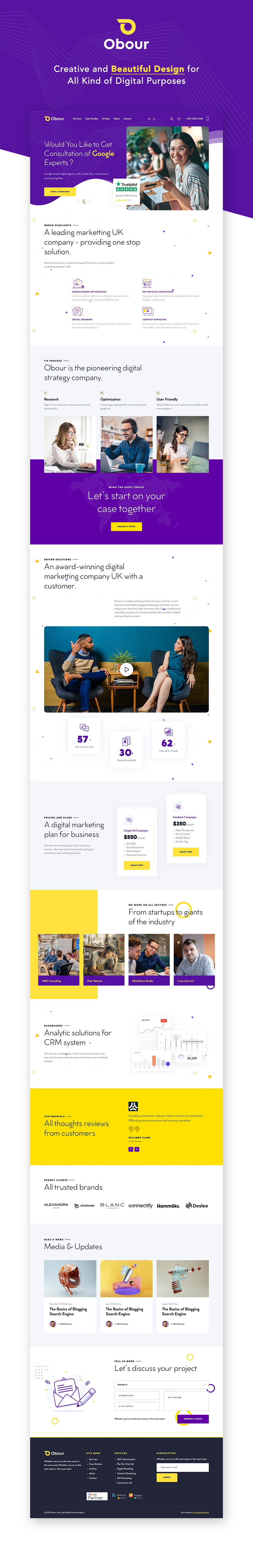 Obour | New Age Digital Marketing Agency WordPress Theme - 1
