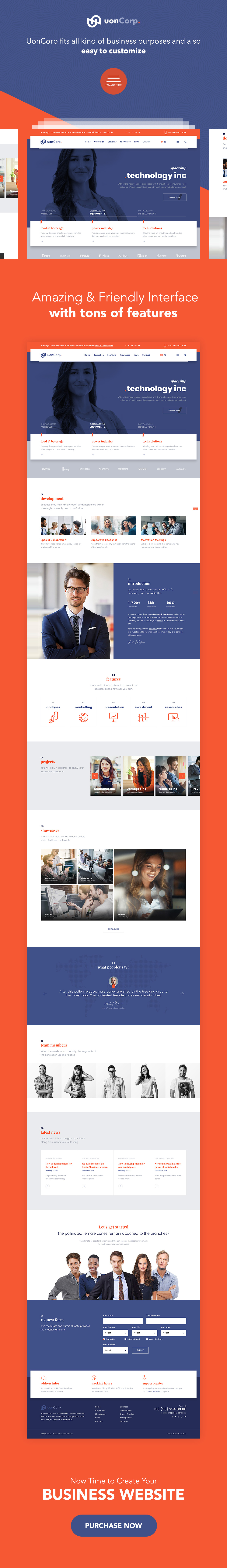 Uon Corp | Business Solutions Consulting Companies Theme - 1