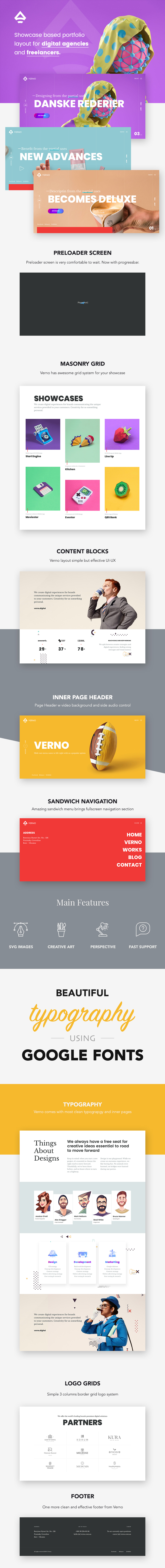 Verno | Creative Showcases for Agencies - 1