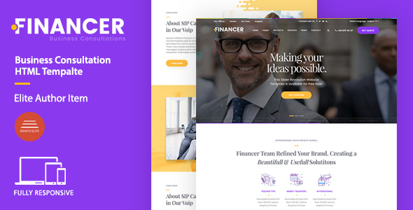 Financer | Business Consultations HTML Template