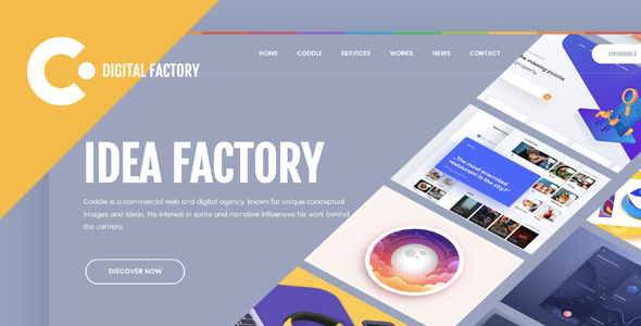 Coddle | Creative Digital Factory HTML Template