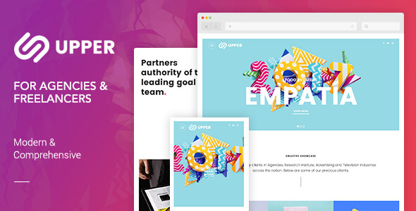 Upper | Modern & Comprehensive Creative Portfolio Template