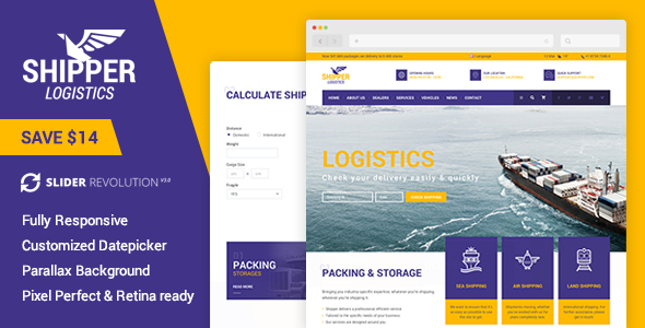Shipper | Logistic and Transportation Company HTML Template