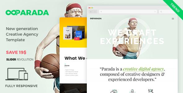 Parada | Creative Agency Portfolio HTML Template