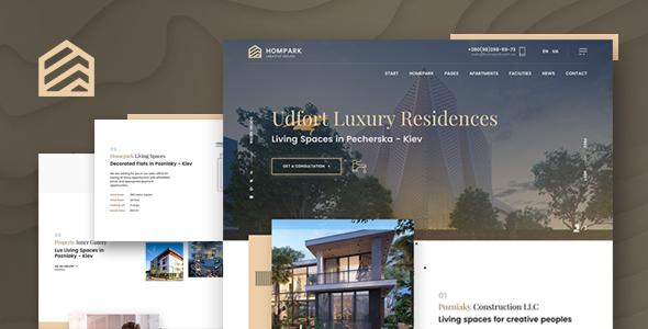 Hompark | Real Estate & Luxury Homes WordPress Theme