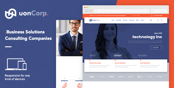 Uon Corp | Business Solutions Consulting Companies WordPress Theme