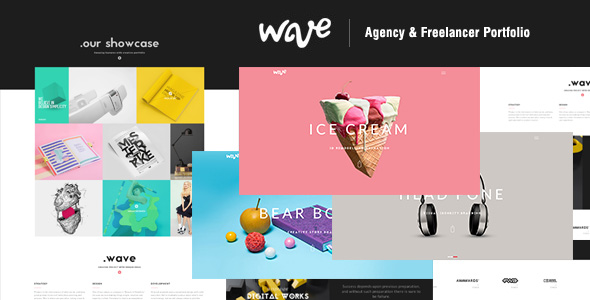 Wave | Agency & Freelancer Creative Portfolio HTML Template