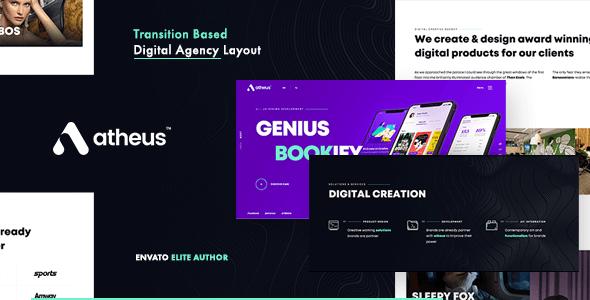 Atheus – Modern Creative Agency and Portfolio WordPress Theme
