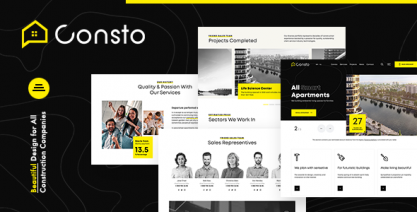 Consto   Industrial Construction Company WordPress Theme