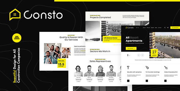 Consto | Industrial Construction Company WordPress Theme