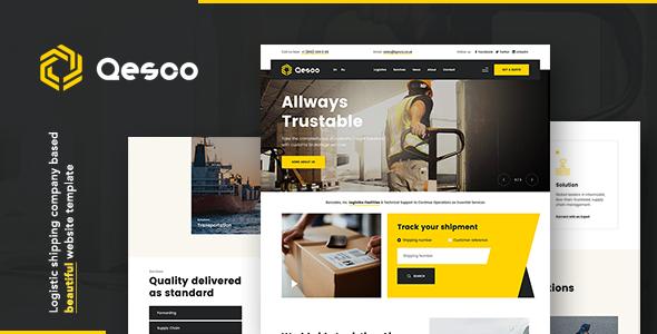 Qesco | Logistic Shipping Company WordPress Theme