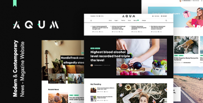 Aqum   Contemporary News and Magazine WordPress Theme