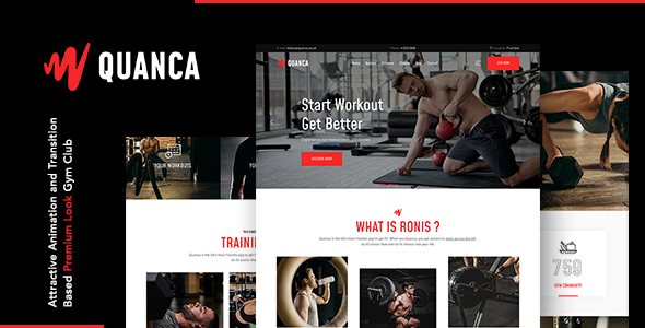 Quanca | Premium Gym Club WordPress Theme